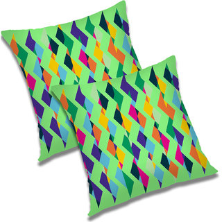 RADANYA Paisley Polyester Cushion Cover Set of 2 Green,20X20 Inches