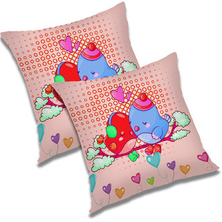 RADANYA Abstract Polyester Cushion Cover Set of 2 Multicolor,18x18 Inches