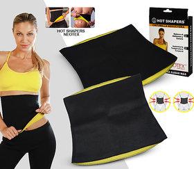 Battlestar  Hot Shaper Belt, Sweat Slim Belt for Men Women Waist Trimmer Stomach Belt Shaper Fitness Belt Yoga wrap hot Belt Unisex Weight Loss Fat Burner Back Pain Gym Running Travel Tummy Workout code-HotSB10