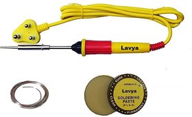 Lavya 3 in 1 Economy Soldering Iron Kit/Electric Soldering Iron Kit 3 in 1 25 W Simple  (Flat Tip)