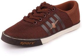 Sparx Men's Brown Tan Sneakers