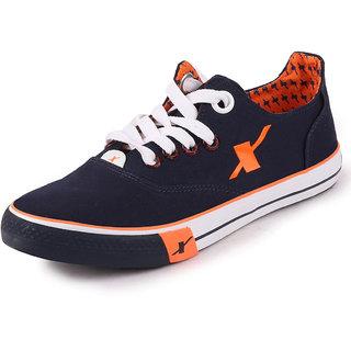 Sparx Mens Navy Blue Orange Sneakers