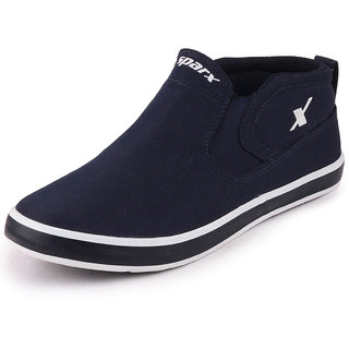 Sparx Mens Navy Blue White Sneakers