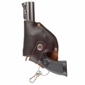 Super Model Hand Mini Gun Cigarette Lighter With Holster- (Brown)