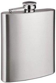 Mannat Plain Stainless Steel Hip Flask (Silver)