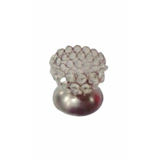 Metalcrafts Tee Light holder, metal and crystal, round shape, 10 cm
