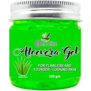 Meralite Aloe Vera Multipurpose Gel for Skin and Hair  (100 g) (ML-GREEN ALOEVERA-100GM)