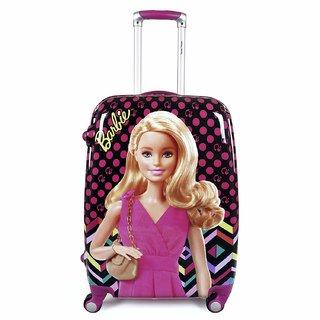 Humty Dumty Disney Barbie Real Pink Polycarbonate 18 Inch / 45.7 cm Kids Hard Luggage Trolley Bag  Travel Bag