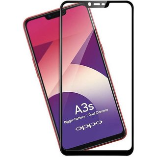 Oppo A3s 5D Tempered Glass Standard Quality