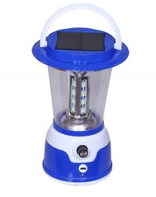 SHVETA solar rechargeable 5017 24SMD LED LAMP with charger Emergency Light  (Blue)