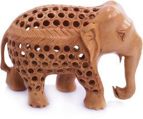 Craft Geek Store Brown  Wood  Star (Jaali) Elephant  - 6''