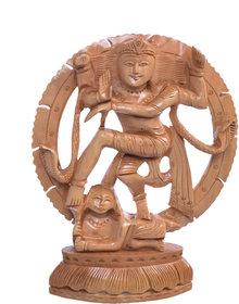Craft Geek Store Brown  Wood  Natraj Idol  - 6''