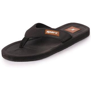 Sparx Men's Black Tan Flipflop Slipper