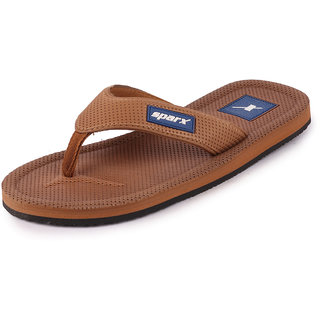 Sparx Men's Tan & Navy Blue Flipflop Slipper