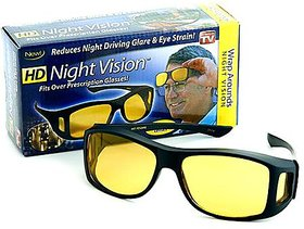 BIKE MOTORCYCLE CAR RIDING HD WrapRealclub Night Vision HD Glasses Best Price Real Night Club Glasses Perfect Night Driving Glasses (AS PER SEEN ON TV)