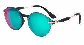 Ivonne Premium Range Round Mirrored Sunglasses