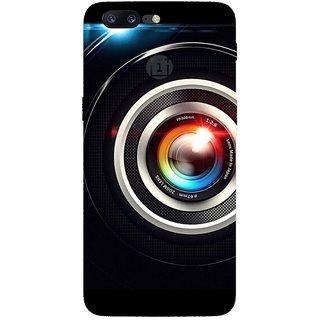 SmartNxt Designer Printed Case for OnePlus 5 | Black | Patterns & Ethnic | Lens