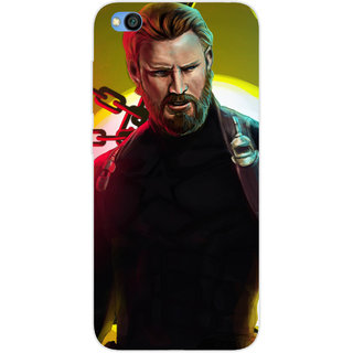 SmartNxt Designer Printed Case for Redmi Go | Multi | Superheroes | Captain America
