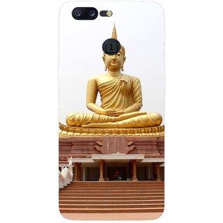 SmartNxt Designer Printed Case for OnePlus 5 | Gold | Religion & Spiritual | Buddha