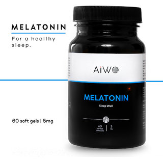 AIWO Melatonin Five Mg Sleeping Supplement for Deep Sleep Sixty Capsules