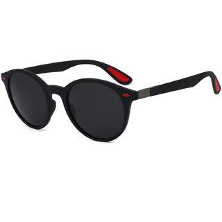 Royal Son UV Protected Round Premium Polarized Sunglasses For  Women (HI0010451Black Lens)