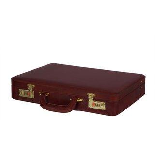 Zint Men Hard Briefcase Genuine Leather Attache Doctor Lawyer Bag Vintage Style