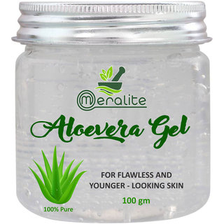 Meralite Organic 100 Pure Aloe Vera Gel  (100 g) (ML-ALOEVERA GEL-100 GM)