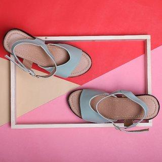 Sindhi Footwear Men's Green Faux Leather Sandals