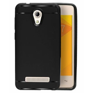 ECellStreet Protection Slim Flexible Soft Back Case Cover For Micromax Bharat 2 Q402 | Micromax Bharat 2 Plus   Black