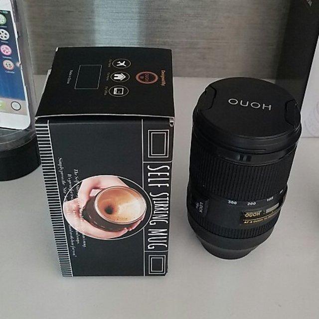 Crazo Fashion Stainless Steel Lens Shape Coffee Mug