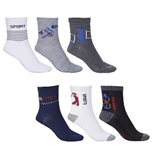 Xy decor Multicolor Ankle Socks pair of 6