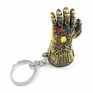 Stookin Avengers Infinity War -3 New Series Thanos Gauntlet Power Stone Marvel Metal Keychain for Car Bike Home (Copper)