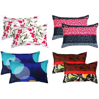 BSB Trendz Cotton 8 Piece Cotton Pillow Cover Set - 20