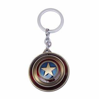 Stookin Captain America Rotating Shield Keyring Keychain