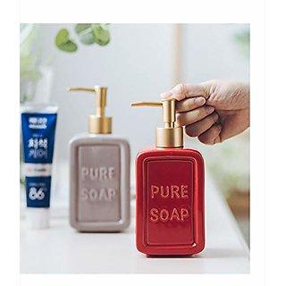 High Grade Ceramic Liquid Soap Dispenser (Random Color-1 Pc)