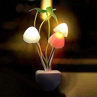 Fouleaf Color Changing LED Mushroom Night Lamp Light