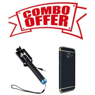 OGW BACK  CASE COVER FOR SAMSUNG GALAXY A-50 GOLD BLACK WITH SLFEE STICK
