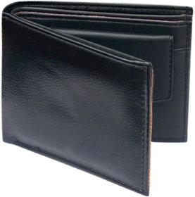 Black Single Fold Wallet For Men