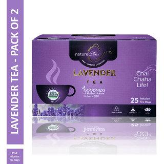 Nature Chai Lavender Green Tea - 25 Tea Bags (Pack of 2)