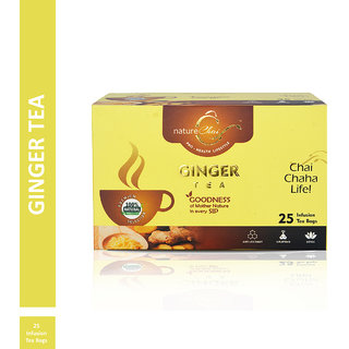 Nature Chai Ginger Green Tea - 25 Tea Bags (Pack of 1)