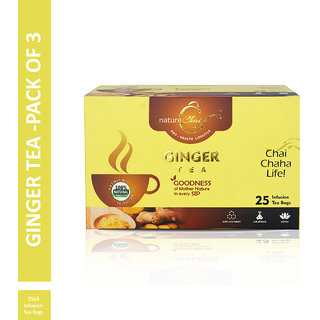 Nature Chai Ginger Green Tea - 25 Tea Bags (Pack of 3)