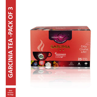 Nature Chai Garcinia Green Tea - 25 Tea Bags (Pack of 3)