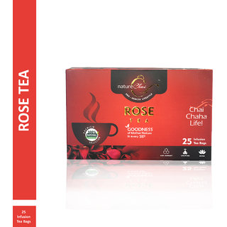 Nature Chai Rose Green Tea - 25 Tea Bags (Pack of 1)