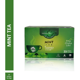 Nature Chai Mint Green Tea - 25 Tea Bags (Pack of 1)