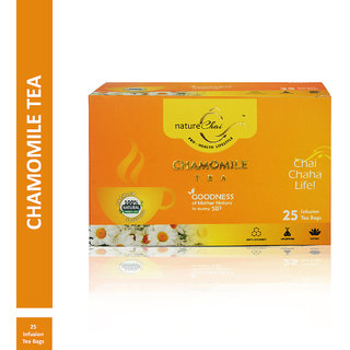 Nature Chai Chamomile Green Tea - 25 Tea Bags (Pack of 1)