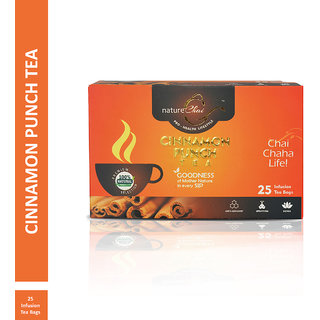 Nature Chai Cinnamon Punch Green Tea - 25 Tea Bags (Pack of 1)