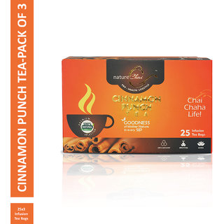 Nature Chai Cinnamon Punch Green Tea - 25 Tea Bags (Pack of 3)