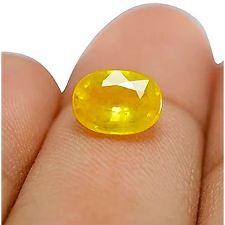 Yellow Sapphire Stone Loose Pukhraj 6.75 Ratti Unisex Gemstone