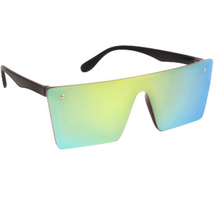 TheWhoop Flat Design Black Square Wayfarer Goggles For Mens, Women, Girls, Boys