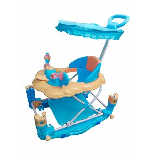 Oh Baby 7 In 1 Function Duck Shape Musical Blue Color Walker For Your Kids SE-W-15